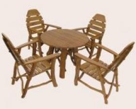 Záhradný nábytok sedenie dub