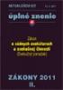 Zákony z oblasti obchodného, občianskeho, trestného práva - Aktualizácia II/2