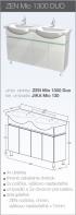 Skrinky pod umývadlo - séria Zen - Skrinka pod umývadlo Zen Mio 1300 Duo