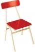 Stolička Priska s červeným sedákom