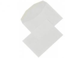 Obálky C6 bez okienka, 114x162mm, olizové, biele 80gr