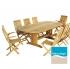 Záhradný set nábytku (stôl a stoličky) Calathéa