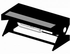 Stôl pre brúsičov bez zásten