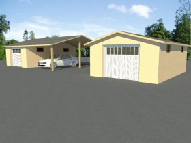Predaj a výstavba nízkoenergetických domov - Garáže