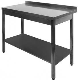 Gastronomický nerezový nábytok - Profesionálny kuchynský stôl s vystuženou policou - DSL