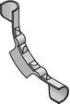 Podlahové vykurovanie, rozdeľovače - plastový oporný vodiaci oblúk rúrky