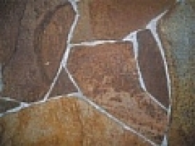 Kamenný obklad - Andezit A2 10-50cm, 1-2 cm hrdzavohnedý