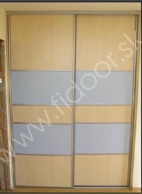 Vstavané skrine - 2-dverové