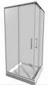 Lyra Plus sprchový kút 80x80x190 rohový,profil biely,sklo stripy