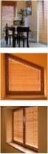 Horizontálne bambusové žalúzie