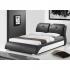Manželská posteľ, s roštom, ekokoža čierna/biela, 160x200, TORENZO