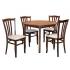 Stôl CORNO PEVNÝ 1ks + Stolička D3622 4ks
