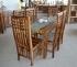 Stôl z masívu (set) 120x80